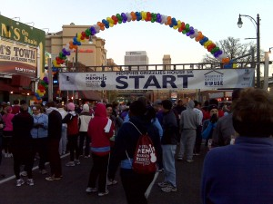Memphis Grizzlies House 5K Starting Line