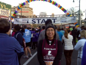 Mom at the 5K Starting Line